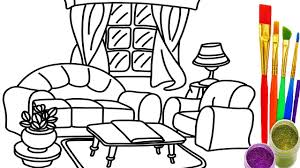 Small Picture How to Draw Living Room Coloring Pages Drawing Learn Colors