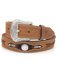 nocona men s western buffalo concho belt brown 114808 jpg