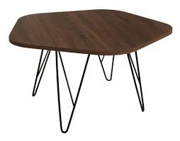 figris coffee table walnut with black