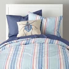 Kids bedding: Beach House Bedding Set - Full-Queen Lake House Stripe Duvet  Cover
