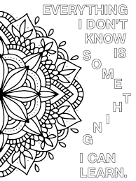 Growth Mindset Coloring Pages Printable Mandala Positive Etsy