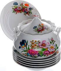 <b>Набор для супа Добрушский</b> фарфор ''Букет цветов'' 10 пр ...