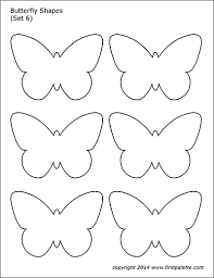Printable Butterfly Outline Butterfly Shapes Free Printable Templates Coloring Pages