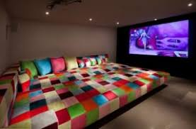 Movie room couch bed