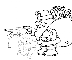 Small Picture Coloring Pages Pokemon Christmas Coloring Pages Printable Pokemon