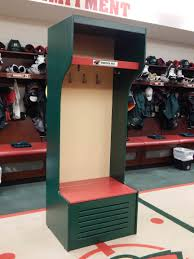 Locker Style Bedroom Furniture Custom Nhl Style Equipment Locker Minnesota Wild My Home