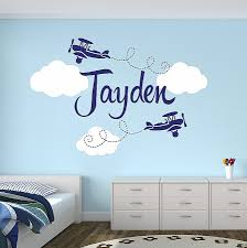 personalized airplane name clouds decal nursery decor home decoration kids decal children room decor vinyl on personalized name wall art for nursery with wall decals personalized name wall decals for nursery best of