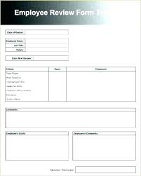 Staff Evaluation Form Template Staff Review Form Template E