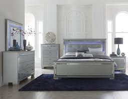 bedroom ideas silver and grey queen bedroom furniture with mirrored and led lighting on upholstered