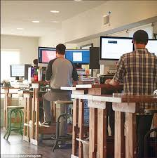 workers using sit stand desks pictured in the study reported being more satisfied