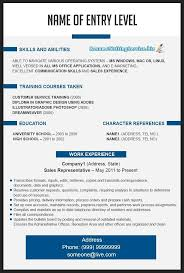 Resume Template Example Functional Templates Free Format Best