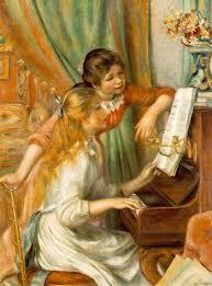 pierre auguste renoir jeunes filles au piano young girls at the piano 1892