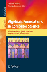 algebraic foundations in computer science essays dedicated to  theoretical computer science and general issues preview