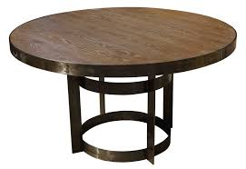 reclaimed wood and metal round dining table best gallery of tables