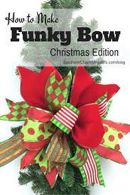 How-to-make-a-funky-bow-christmas-edition | Christmas decor ...