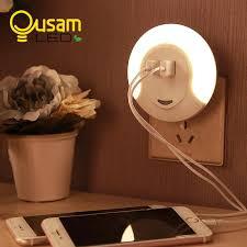 2018 upgraded led night light with 2 usb port for mobile phone charger light sensor night lamp for bedroom living room lighting from cornelius