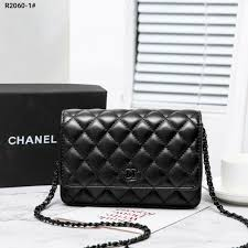 tas chanel woc wallet on chain lambskin leather bag r2060 1 semi premium kode