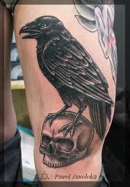 все изображения ворон татуировка Heliographru