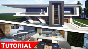 Minecraft Modern House Interior Design Tutorial  How To Make - Modern house interior