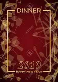 new year s template 2019 new years eve dinner template for poster cover and menu