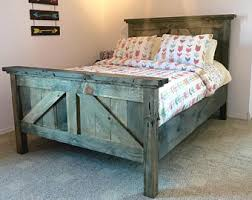 farmhouse twin bed. Perfect Farmhouse Rustic Farmhouse Bedframe Barndoor Look Available In Twin Full Queen  King And California King Price Listed Is For  For Twin Bed