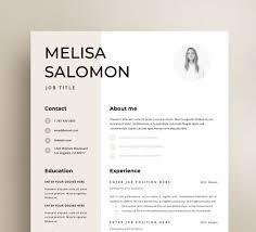 Resume Template Cv Template Resume Cv Design Teacher Resume Curriculum Vitae Cv Instant Download Resume Resume Templates Cv