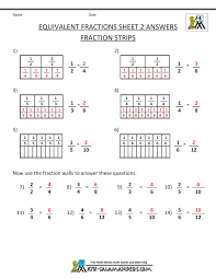Equivalent Fractions WorksheetEquivalent Fraction Worksheets 2 · Sheet 2 Answers