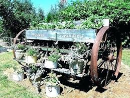 garden wagon wheels decorative garden wagon wagon garden so my style for the garden but got garden wagon