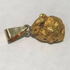details about natural alaskan gold nugget pendant 22 8 grams