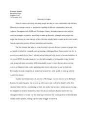 essay here s to never growing up leonard ballosh professor 3 pages essay 2 diversity in lights