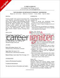 Journalism Resume Examples Al3abbnatflash