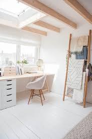 Geometric Hanging Fabric in a Minimalist Home Office - Minimalist Interior  Design