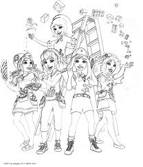 Lego Friends coloring book