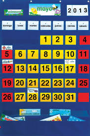 Calendar And Weather Pocket Chart Spanish Monthly Calendar Pocket Chart Carlex Online Com