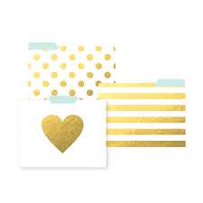 stylish office organization. File Folders - Golden Stylish Office Organization