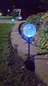 outdoor lighting balls. Deneve Solar Garden Stake Lights 3-Pack! Cracked Glass LED Outdoor Patio Yard Statue Lighting Balls
