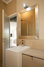silver framed bathroom mirrors. Unique Mirrors A Contemporary Gold Silver Framed Mirror For A Chic Look In The Bathroom Inside Silver Framed Bathroom Mirrors F