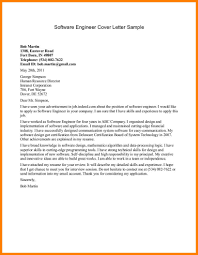 Cover Letter For Experienced Software Engineer Sample Cover Letter Software Engineer Entry Level With Engineering