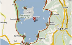 Image result for taal volcano map location