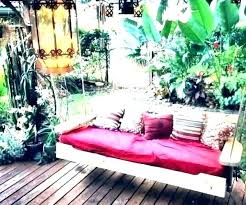 diy outdoor hanging bed plans swing beds architectures fascinating porch