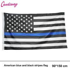 American Flag Black Blue Star Flag Office Activity Parade Festival