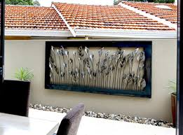 large outdoor metal wall art decor corrugated metal walls