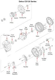 Wiring diagram delco remy cs130 alternator within for dr cs130m 750 12 delco remy cs130