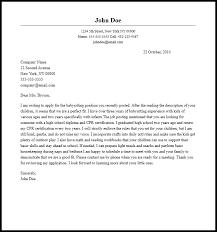 Babysitting Cover Letter Template Seminarie