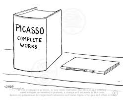 picasso complete works cartoon the complete works of vermeer and picasso compared