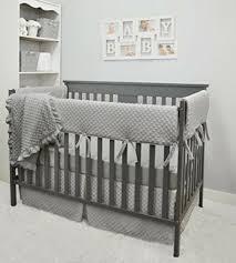 crib bedding set grey gray boy girl