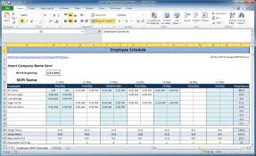 Schedule Document Template Free Employee And Shift Schedule Templates