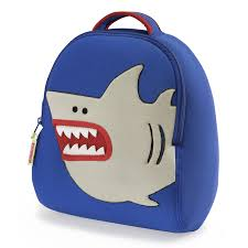 shark backpack and lunch bag set by dabbawalla bags