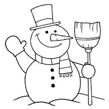 Leuk Voor Kids Sneeuwpoppen Kleurplaten