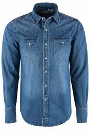Stetson Mens Denim Shirt With Embroidered Back Yoke